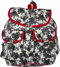 Vivinkaa Black Printed Backpack