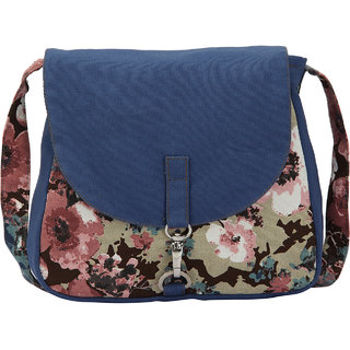 Vivinkaa Blue Camo Canvas Sling Bag for Women