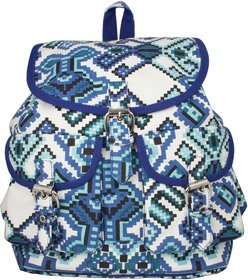 Vivinkaa Blue Printed Backpack