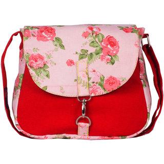 Vivinkaa Red Printed Handbag