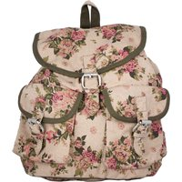 Vivinkaa Biege Printed Backpack