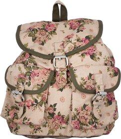 Vivinkaa Biege Printed Backpack