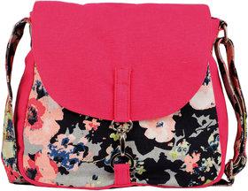 Vivinkaa Pink Camo Canvas Sling Bag for Women