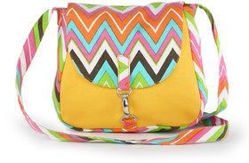 Vivinkaa Yellow Printed Handbag