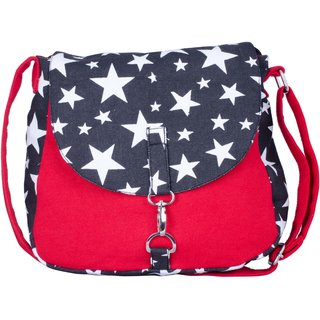 Vivinkaa Red Star Printed Handbag