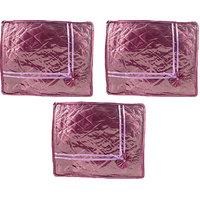 Annapurna Sales Purple Satin Small Saree Cover - Set Of