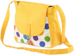 Vivinkaa Yellow Printed Handbag