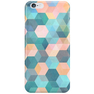 The Fappy Store Hexagon-Pattern-Soft-Blue-Pink Back Cover For Iphone 6S Plus