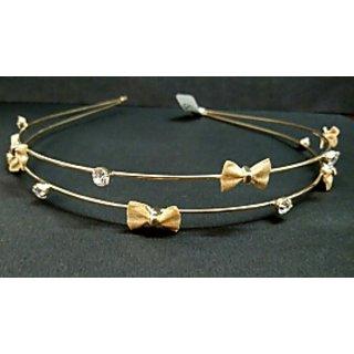 Golden bow hair band