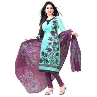 Bhoomi fashion beautifull cotton Firoza Dress Material