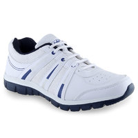 Lancer Mens White,Blue Lace-up Sports Shoes