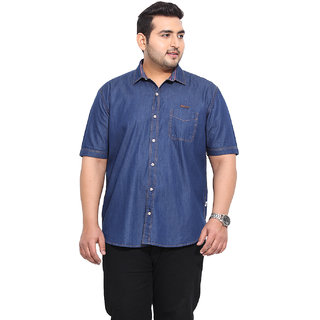 Blue Coloured Cotton Denim Shirts
