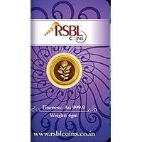 RSBL eCoins 4 gm Gold Coin 24kt purity 9999 Fineness-WITH TAX INVOICE