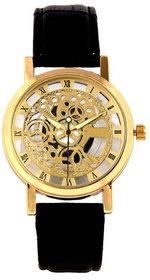 Golden Dial Transparent Watch - For Men