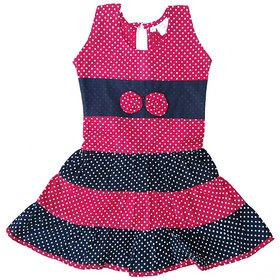 Flora Printed Cotton Dresses For Girls