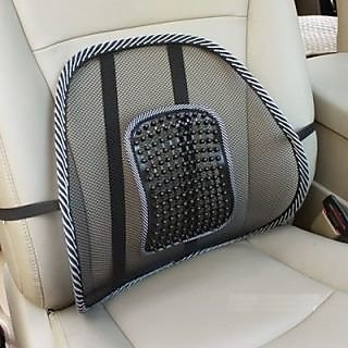 Car Back Support Seat Massager Back Lumbar Support Mesh Ventilate Cushion Pad
