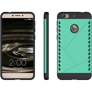 Heartly Hybrid Slim Dual Layer Hard Rugged Shock Proof Tough Armor Bumper Back Case Cover For Letv Le 1S - Glowing Green