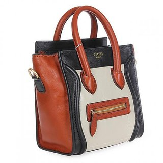 9f7a143ba04d Buy Celine Boston Black Brown White Tote Bag Online - Get 88% Off