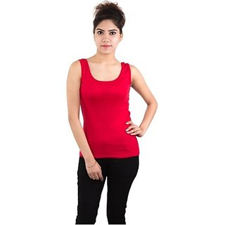 Sleeveless Solid Womens Multicolor Top