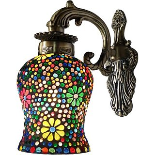 Weldecor Antiqua Braso Polka Dots Floral Era Night Lamp