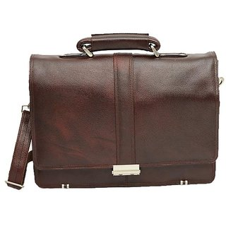 Buy Chanter Leather Brown Laptop Bag Online - Get 0% Off fbb9a1bcb9d50