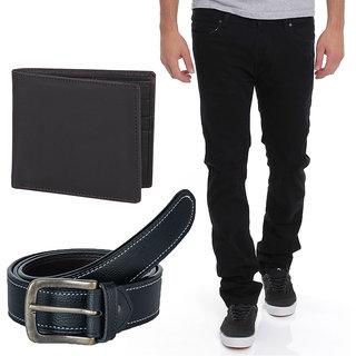 Stylox Men'S Black Regular Fit Jeans