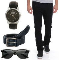 Stylox Men's Black Slim Fit Jeans