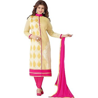 61f078f853 Buy Sri Sai Fashions Cotton Embroidered Salwar Suit Dupatta Material Online  - Get 5% Off