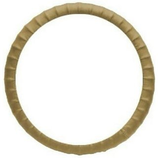 SAIAUTOACCESSORIES Steering Cover For Toyota Innova(Beige, Leatherite)