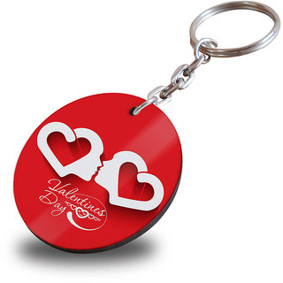 buy happy valentien day with love symbol wooden circle keychain