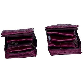 Kuber Industries Locker Jewellery Vanity Multi Purpose         (Purple) 179