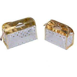 Kuber Industries Make Up 2 Pcs Jewellery Vanity Multi Purpose         (Golden) 186