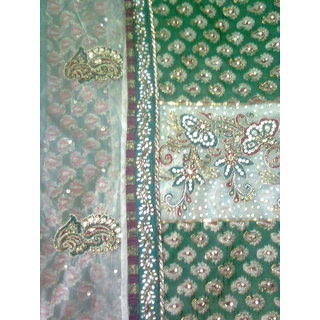 Sreelatha Multicolor Net Self Design Saree With Blouse