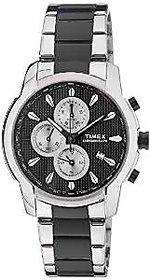 Timex Chronograph Black Round Watch -TW000Y506