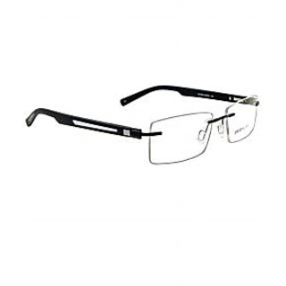 David Blake Black Rectangular Eyeframe-LCEWDB411PF1004-MBLK