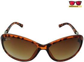 Polo House USA Womens Sunglasses,Color-Light Brown-JuliandasW5002trbrown