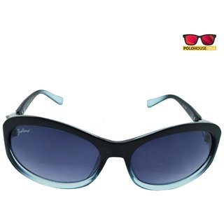 Polo House USA Womens Sunglasses,Color-Black Blue-JulientW1102blackblue