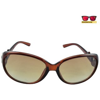 Polo House USA Womens Sunglasses,Color-Brown-PassionW8114brown
