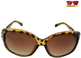 Polo House USA Womens Sunglasses,Color-Light Brown-JuliandasW5009trbrown