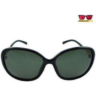 Polo House USA Womens Sunglasses,Color-Black-DBGldpolo5108black