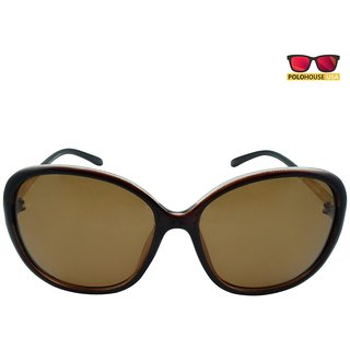 Polo House USA Womens Sunglasses,Color-Brown-DBGldpolo5108brown