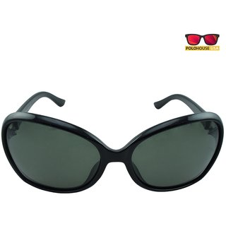 Polo House USA Womens Sunglasses,Color-Black-DBGldpolo5114black