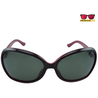 Polo House USA Womens Sunglasses,Color-Red-DBGldpolo5114red