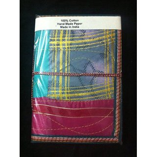 Motley Recycled Handmade Paper Silk Patch Cover Diary