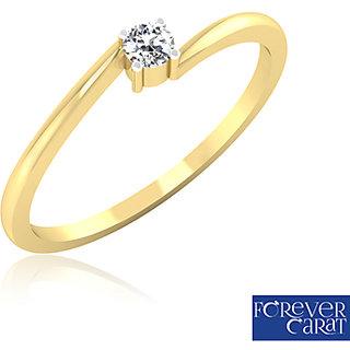 0.07ct Natural Diamond Solo Star Ring14K Hallmarked Gold Ring LR-0006G