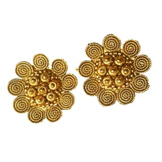 Gold plated antique look earing ER29003