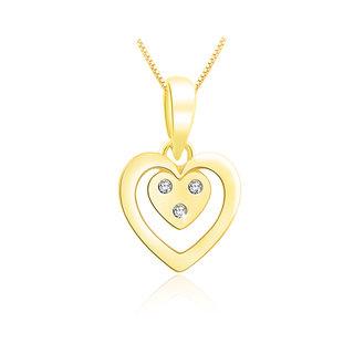 Sparkles 0.03 Ct. Beautiful 18Kt Gold & Diamond Pendant (Design 2)