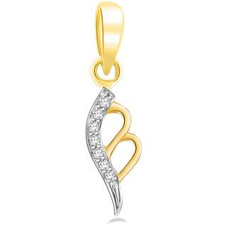 Sparkles 0.03 Ct. Stylish Bell Gold Pendant
