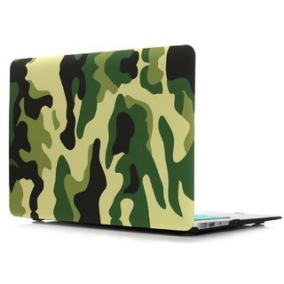Heartly Military Camouflage Pattern Design Laptop Flip Thin Hard Shell Rugged Armor Bumper Back Case Cover For MacBook R