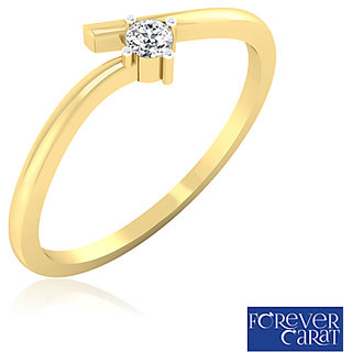 0.06ct Natural Diamond Petal Fantasy Ring 14K Hallmarked Gold Ring LR-0012G